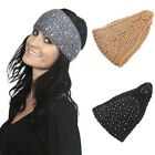 New Lady Girl Winter Warm Sequins Knit Hat Crochet Hair Band Headwrap 3 Colors