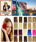 """Fast US STOCK 20""""30g 6pcs Remy Clip In 100% Real Human Hair Extension Any Color"""