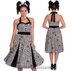 RKP35 Hell Bunny 50's Toto Rockabilly Roses Vintage Style Pin Up Swing Dress