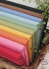 Polka dots 100% Cotton Fabric Remnants / 110cm Quilting fabric cuts (ff025)
