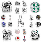 Silver Charms Beads Fit sterling 925 Necklace European charm Bracelet Chain S5