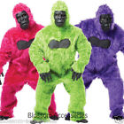 C900 Mens Gorilla Ape Monkey Colour Halloween Adult Fancy Jungle Animal Costume