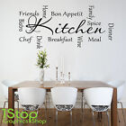 KITCHEN WORDS WALL STICKER QUOTE - KITCHEN HOME WALL ART DECAL X105