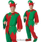 CL218 Complete Elf Mens Womens Santa Helper Christmas Xmas Party Costume + Hat
