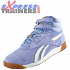 Reebok Classic Womens Girls Freestyle Hi Top Trainers Blue * AUTHENTIC *