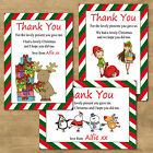 Personalised Christmas Photo Thank You Cards + Single Sided Postcard Style 10