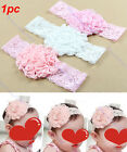 Hot Cute Baby Toddler Girl Lace Flower Hair Band Headband Soft Elastic Headdress