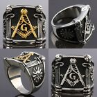 Fashion Stainless Steel Free Mason Masonic Freemasonry Finger Rings Jewelry
