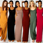 Sexy Ladies Stylish Women Vest Tank Cotton Stretch Casual Summer Maxi Long Dress