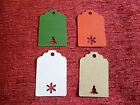 20 CHRISTMAS TREE SNOW CUT OUT TAG PLACE NAME CARDS PRICE TAGS LABELS GIFT