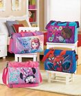 LICENSED OVERNIGHT BAG SOFIA THE FIRST DOC MCSNUFFINS SPIDER MAN OR MINNIE MOUSE