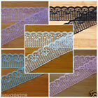 50 Yard Embroidered Net Lace Trim Ribbon 3 Color Select