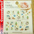 Color Printing Water Tranfer Nail Art Stickers Gift Christmas Style 6-16