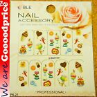 Color Printing Water Tranfer Nail Art Stickers Gift Ice cream Flower Style 6-21