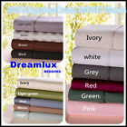 1000TC 100%Egyptian Cotton 6piece flat, fitted bed sheet set  Queen size