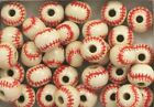 Hand Painted Ceramic Beads, 10mm Major League Red Stitch Baseball Design, New