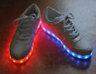 Unisex LED Light Lace Up Luminous Shoes Sportswear Sneaker 7colors in 1shoes New