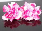 "6pcs Carnation rose Artificial Silk Flower Heads Wedding bridal decor 3.7"" 9cm"