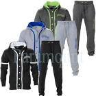 New York Contrast Trim Zip Hooded Fleece Tracksuit  Mens Size