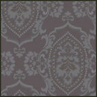 DEEP EMBOSSED FLOCKING WALLPAPER TEXTURED VINTAGE MODERN PRINT WALL PAPER ROLL