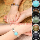 10X Wholesale Round Gemstone Chunk Snap Charms Bead for Buckle Bracelet DIY Gift