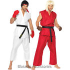 CL242 Street Fighter Ryu Ken Mens Video Games Adult Fancy Dress Costume