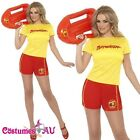 Ladies Baywatch Lifeguard Beach Patrol Ladies Fancy Dress Costume Outfits
