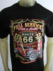 Old Skool gearhead pinup Garage route 66 tee shirt men's black choose your size