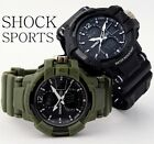 New Luxury Men Dual Time Waterproof Date Digital Analog Shock Sports Army Watch