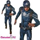 Mens Licensed Captain America Costume Winter Soldier Avengers Fancy Dress Outfit