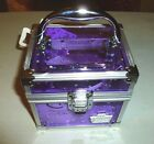CABOODLES PINK OR PURPLE ALL THAT GLITTERS MINI CUBE TRAIN CASE WITH COIN PURSE