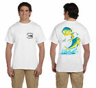 ANGLER WEAR SALTWATER FISHING T-SHIRT MAHI MAHI DOLPHIN 2036231