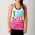 Womens I Can I WIll Y-Back - Gym Singlets Womens Gym Wear Hot Pink Ombre