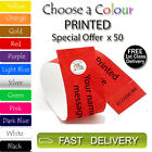 50 x PRINTED Tyvek Wristbands ID Security Bands FREE Coloured Wristbands