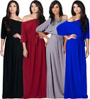 NEW Womens One Shoulder 3/4 Sleeve Plus Size Party  Maxi Dress S M L XL 2X 3X 4X