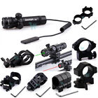 Tactical Green/Red Laser Sight Rifle Dot Scope 980FT Long Range W/Switch W/Mount