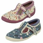 Clarks Doodles Sophia May Girls Buckle Average and Wide  Cotton Casual  Shoes