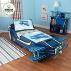 Blue Airplane Themed Kids Furniture Boys Girls Wood Toddler Bed