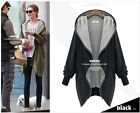 Autumn Women Oversize Hooded Zipper Parka Jacket Cardigan Coat Blazer Outwear CB