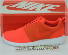 Nike Rosherun Roshe Run Orange Bright Crimson White 511881-663 Casual Running