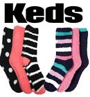 NEW KEDS SUPER SOFT COZY SOCKS! WARM & COZY! ONE SIZE! 3 PAIRS PER PACK VARIETY!