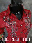 NEW Womens ROAR Button-Up Shirt ATTRACTION in DARK RED Wash Style WW50471