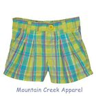 CARTER'S Girls ~ Plaid Pull On Shorts ~ 100% Cotton ~ Green ~ 24 months ~ NEW