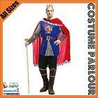 Mens Noble King Medieval King Arthur Game Of  Thrones Costume All Sizes