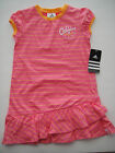 ADIDAS NWT Girls Dress Tennis Play Stripe Ruffle Pink Orange 5 6 6X 100% Cotton