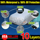 10 Layers Full Size Car Cover Universal Fit Sun UV Waterproof Resist Protection
