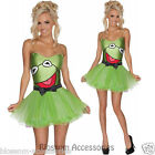 CL327 Miss Kermit Frog Secret Wishes The Muppets Fancy Dress Halloween Costume