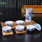 Chinese Peony Floral Gongfu Cha Tea Cup Glass Ceramic Teapot Set With Infuser