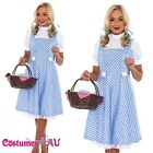 Ladies Wizard of OZ Dorothy Halloween Fancy Dress Costume Halloween Party Outfit