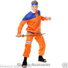 CL340 Mens Japanese Ninja Fighter Naruto Martial Art Samurai Warrior Costume